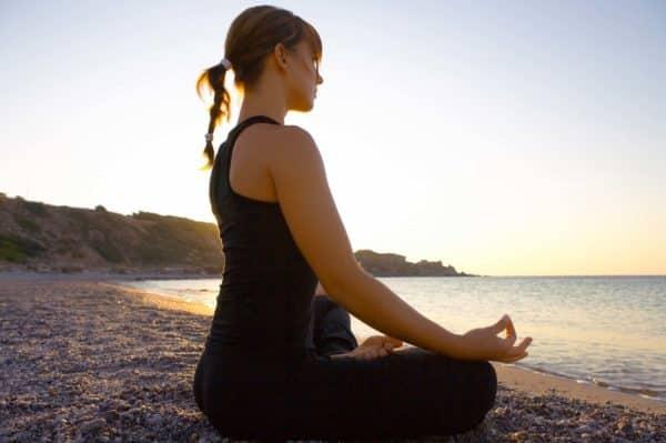 Yoga Lesson at the Beach